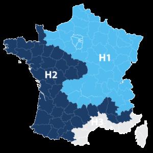 carte France zones travaux