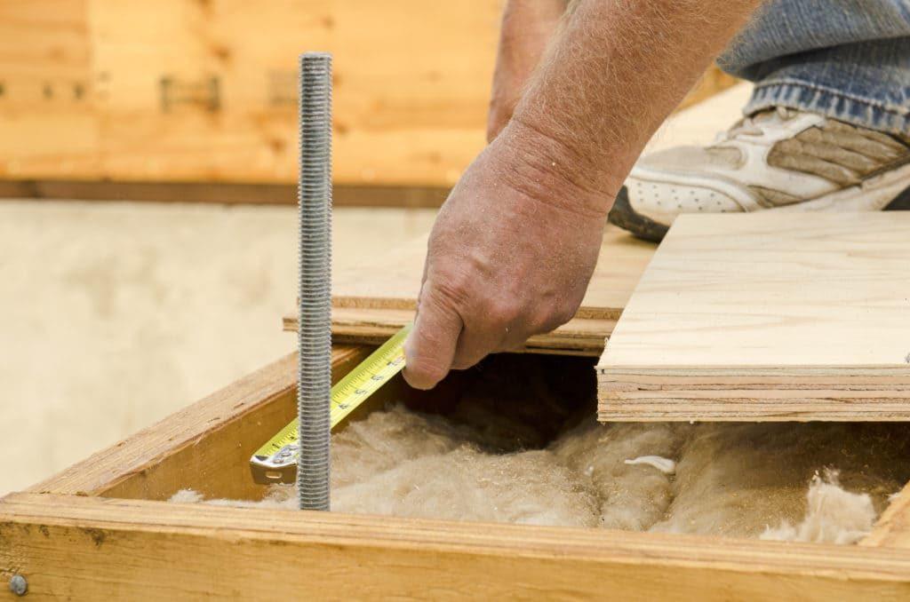 isolation plancher mètre travaux
